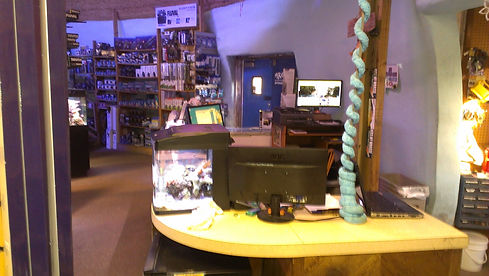 Inside store view.