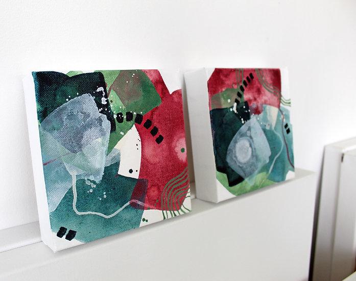 Original Acrylic on Canvas / 2 Color Studies - Day 93 & 94