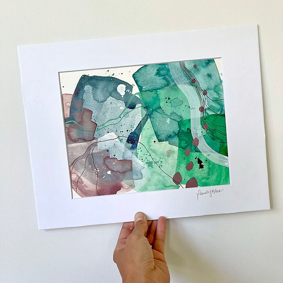 """Color Study on Paper 1 / 8""""x10"""" matted to 11""""x14"""""""