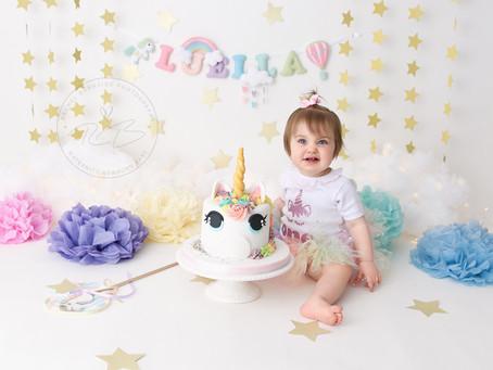 1st Birthday Cake Smash for Baby L