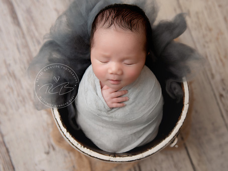 Newborn Session for 4 week old Baby J and his family