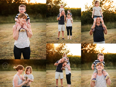 Why you should schedule your family photo shoot for Golden Hour