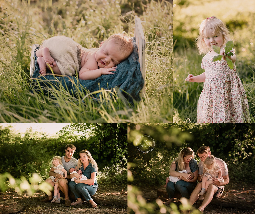 Newborn photography outdoors in wiltshire