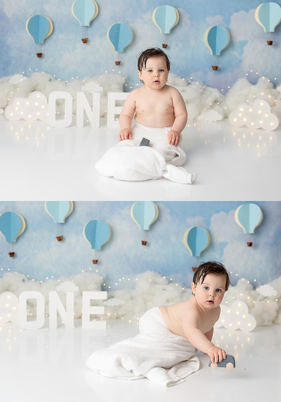 Baby Cake Smash Photoshoot in Wiltshire