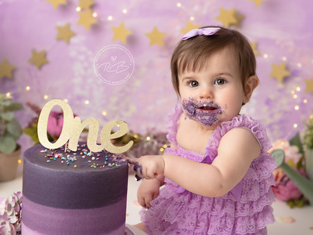 1st Birthday Cake Smash Session for Baby P with Rachel Burnside Photography