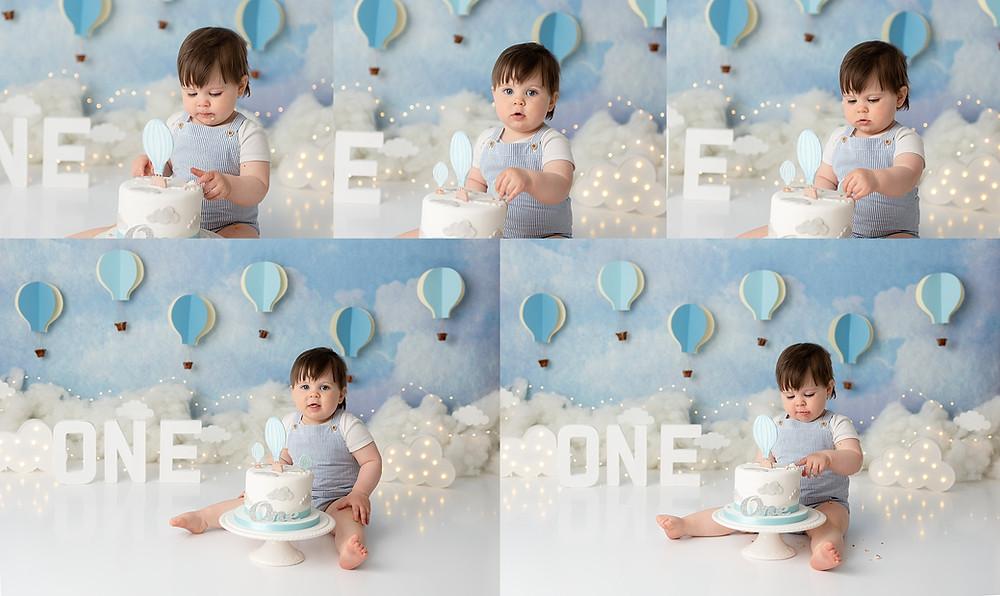 Baby Cake Smash Photographer in Hampshire