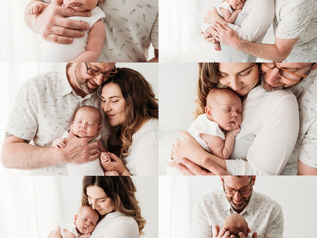 Newborn White Onesie Photography Session for Baby A