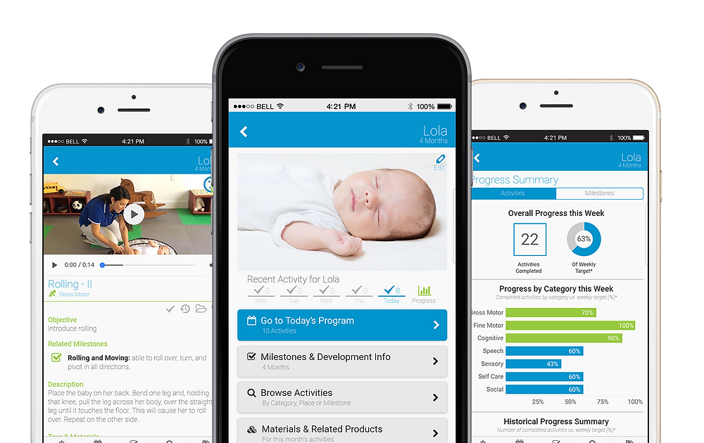 baby monitoring app on phone
