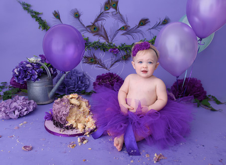 1st Birthday Cake Smash session for Baby I