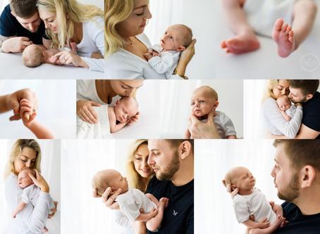 White Onesie Studio Newborn Sessions