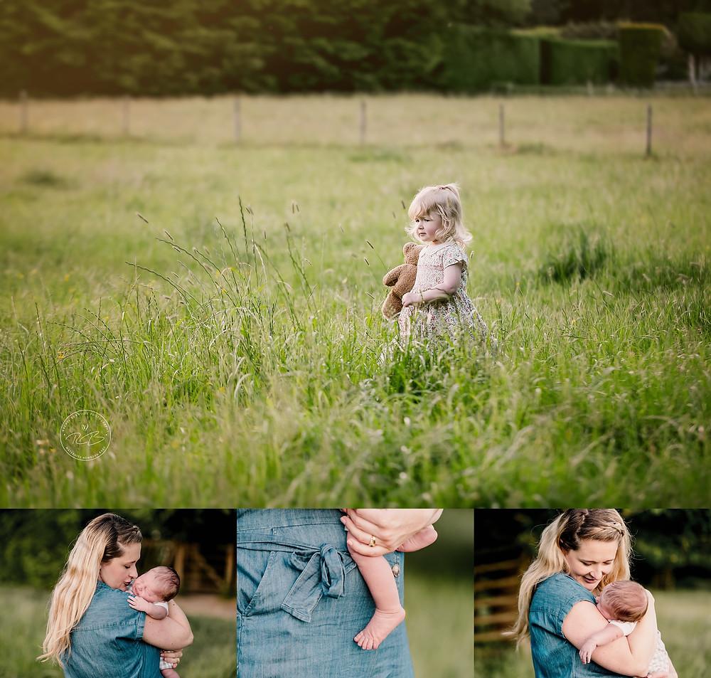 Outdoor newborn photography in salisbury