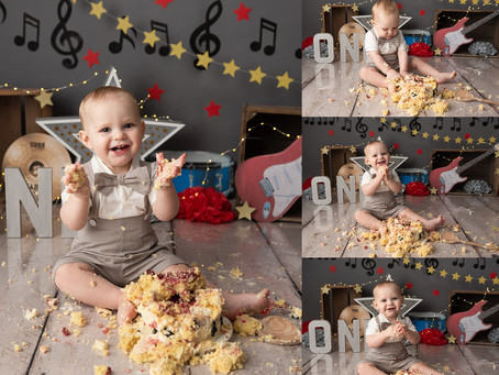 Rock Star Cake Smash Session for Baby O