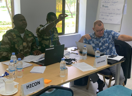 TRAINING UNITED NATIONS STAFF OFFICERS IN RWANDA