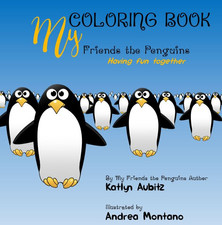 My Friends the Penguins Coloring Book: Having fun together