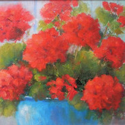 Red Geraniums - SOLD