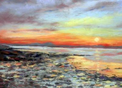 Sunset on Strangford Loch