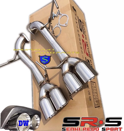 SRS AXLEBACK EXHAUST MUFFLER DELETE DOUBLE WALL TIPS FOR WRX STI 2015-2018