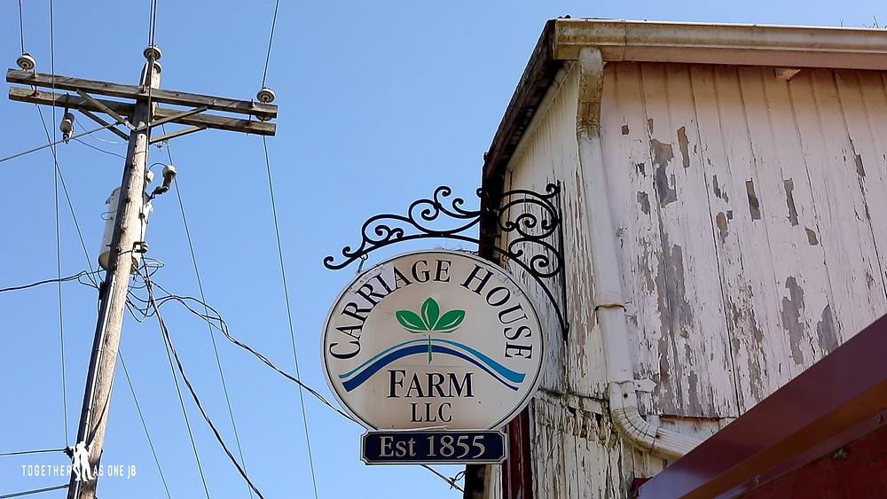sign of Carriage house farm in Cincinnati Ohio