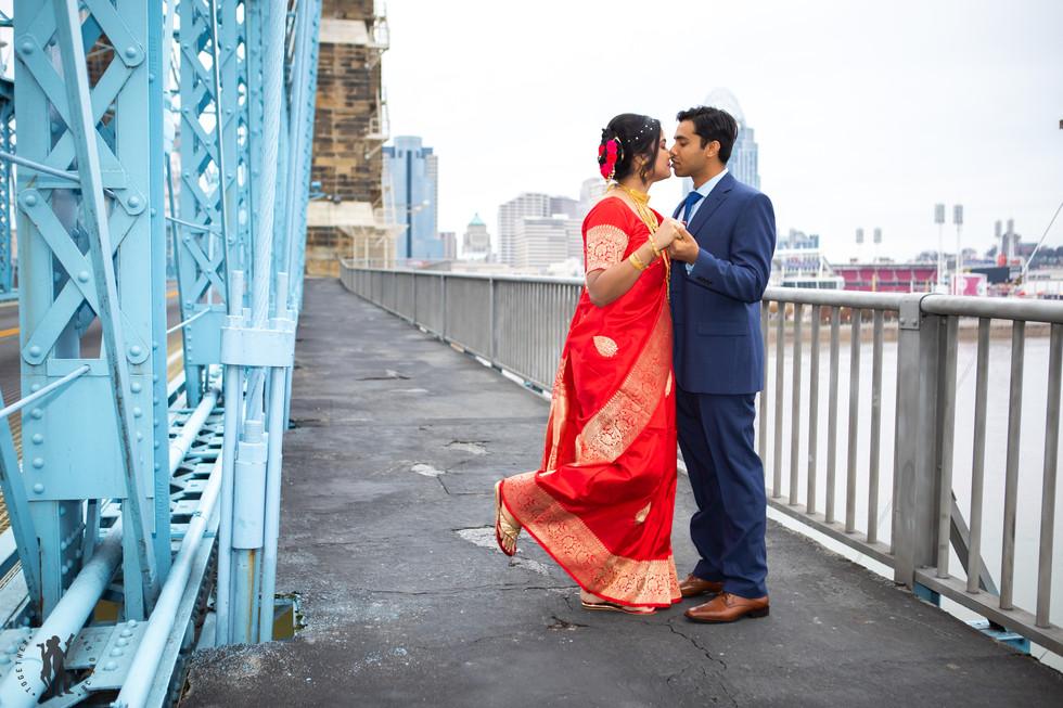 Indian Wedding couple wedding portraits