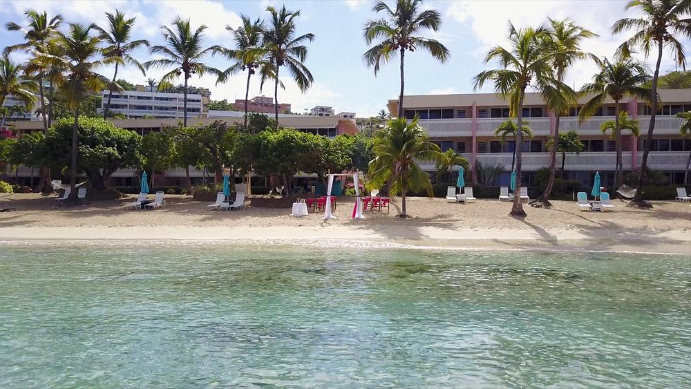 Cincinnati wedding photographer captures image of beach resort in Virgin Islands.