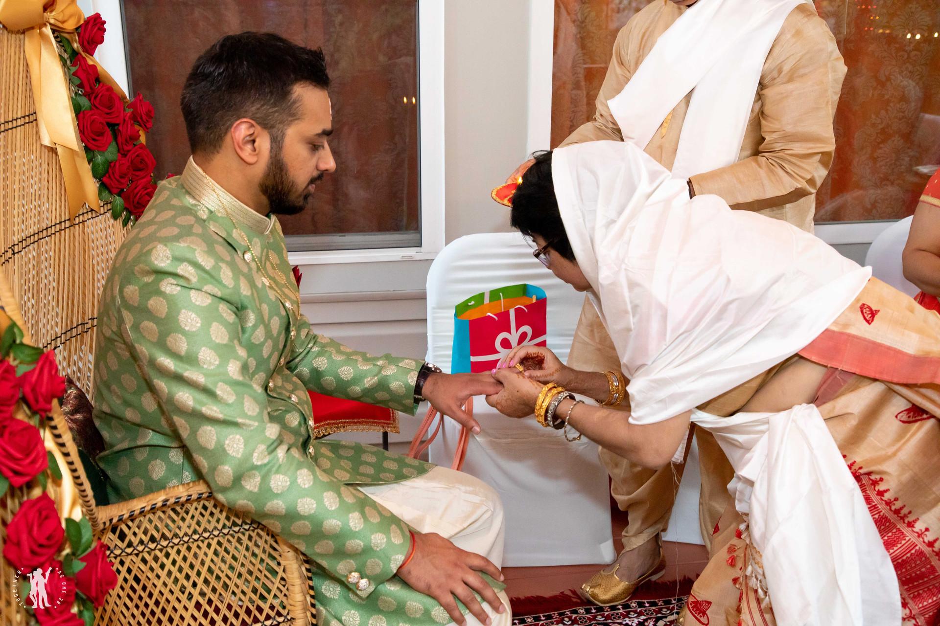 Ring Ceremony Party Cincinnati Indian We