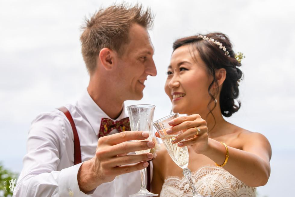 Hawaii Wedding Photography Chinese Door