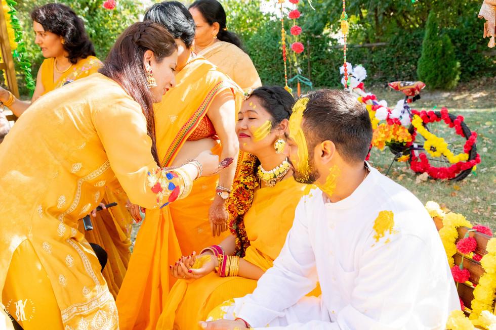 Haldi Party Cincinnati Indian Wedding Ph