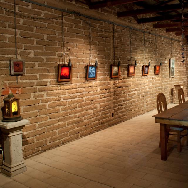 Adobe Barn Gallery, interior view