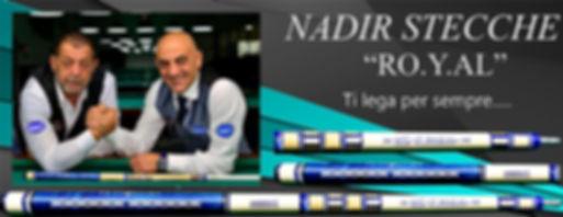 Stecche da biliardo intenazionale Nadir Ro.Y.Al. con Alfonso Di Serio e Romolo Bruno