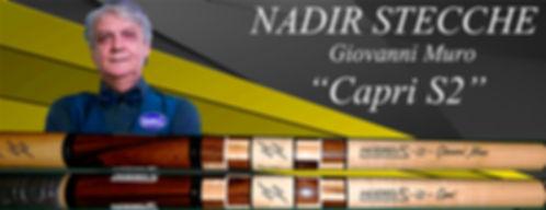 Stecche da biliardo intenazionale Nadir Giovanni Muro Capri S2