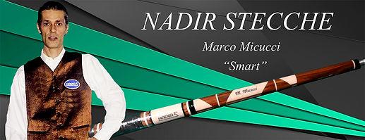 Stecche da biliardo intenazionale Nadir con Marco Micucci Smart