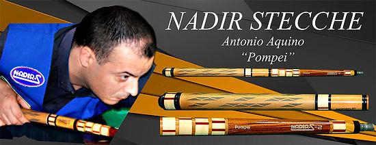 Stecche da biliardo intenazionale Nadir con Antonio Aquino Pompei