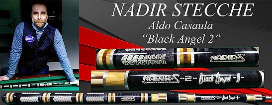 Stecche da biliardo intenazionale Nadir Black Angel con Aldo Casaula