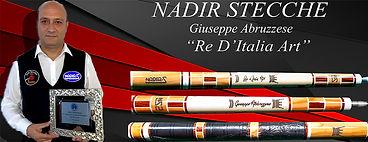 Stecche da biliardo intenazionale Nadir Re d'Italia Art con Giuseppe Abruzzese