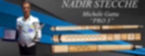 Stecche da bliardo intenazionale Nadir PRO 3 con Michele Gatta