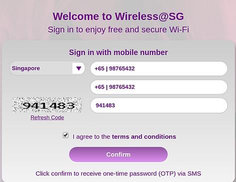 sms via wifi