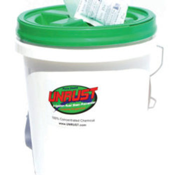 5 gallon of UNRUST stain preventer