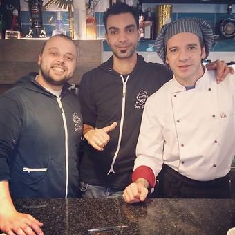 Angelo, Mohamed e Adrian