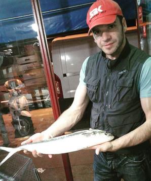 Adrian Gomez, selezionatore al mercato del pesce
