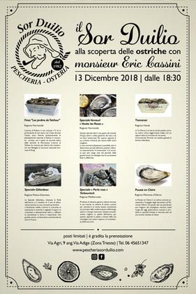 Degustazione 13 Dic 2018 con Monsieur Eric Cassini
