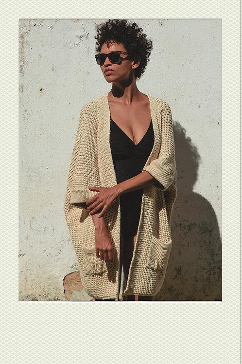Dalila Smėlio spalvos susiaučiamas megztinis