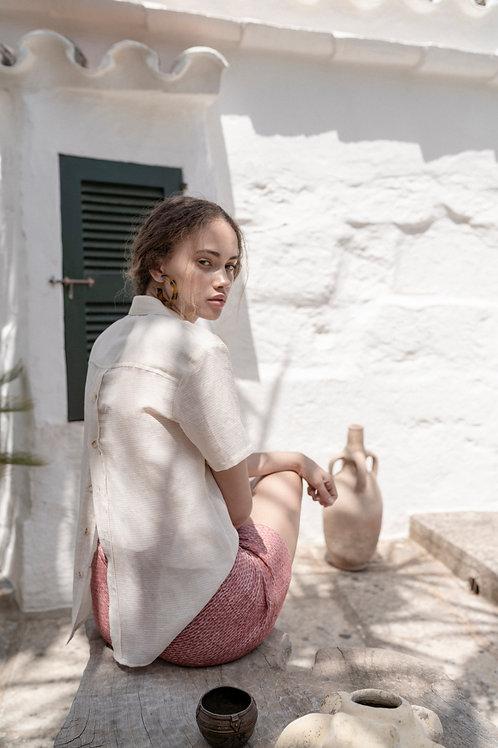 SUNAD Josefa Dramblio kaulo spalvos trumparankoviai marškiniai