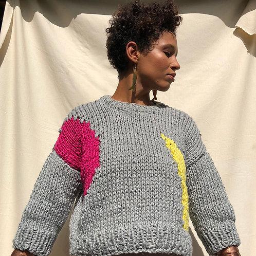 Temos Vagas rankų darbo megztinis INGER