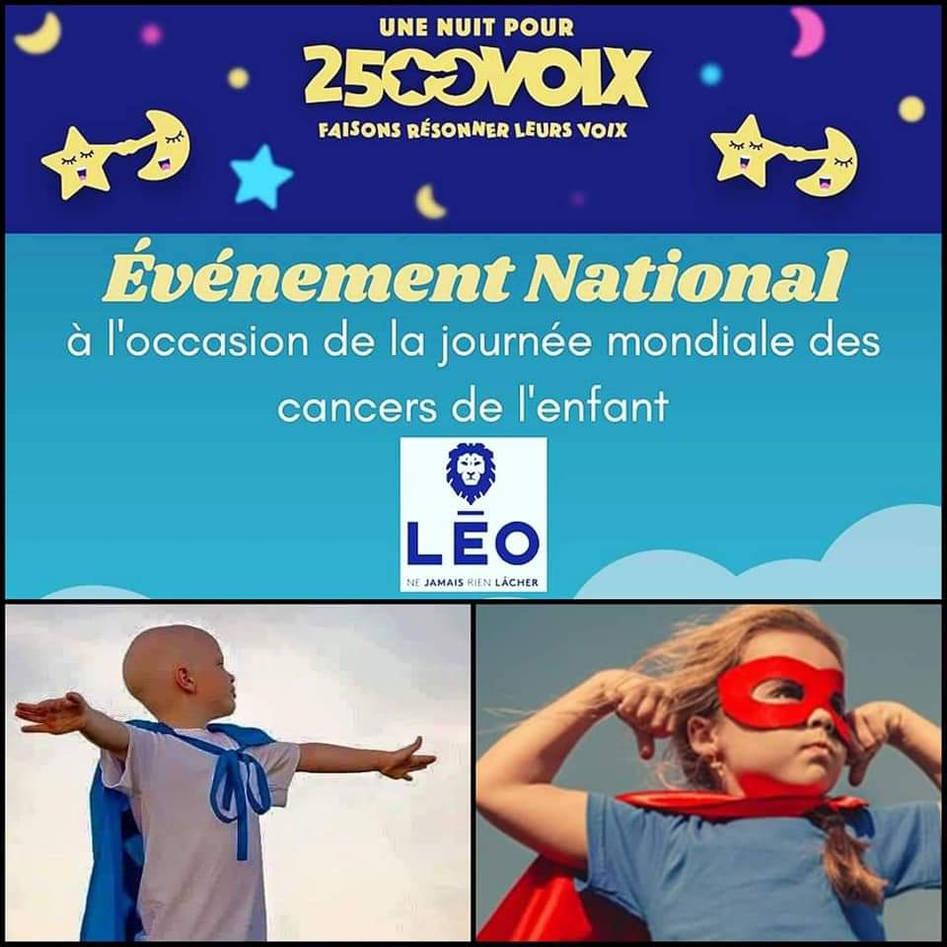 """Appel à candidature pour l'événement national: """"Une nuit pour 2500 voix"""""""