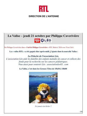 L'association Léo dans la Valise RTL ❤🦁