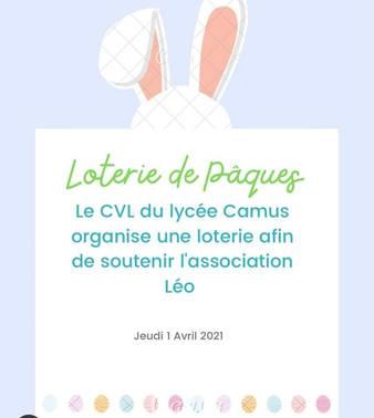 Grande Loterie de Pâques organisée par le CVL de Camus