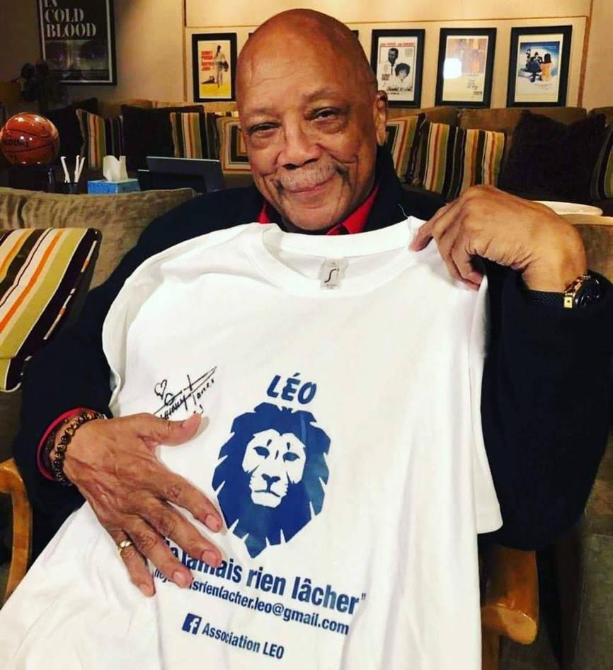 QUINCY JONES soutient l'association Léo