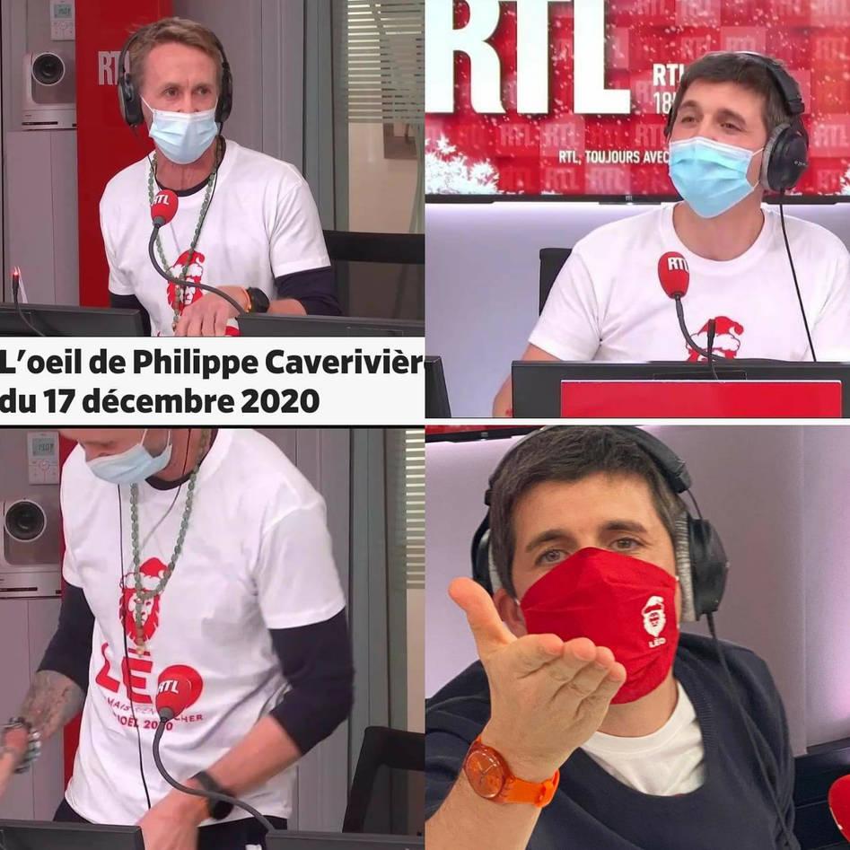 RTL SOIR porte les couleurs de l'association Léo MERCI à  notre parrain Philippe Caverivière et à Thomas Sotto
