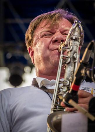 Игорь Бутман. Фото Хуана Джанко с выступления на Syracuse Jazz Festival, 2014 год