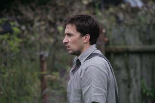 Григорий Антипенко. Фотография со съемок сериала«Человек без пистолета»